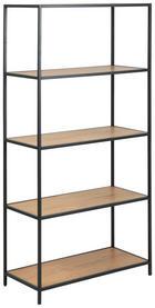 REGAL - boje hrasta/crna, Design, drvni materijal/metal (77/150/35cm) - Carryhome