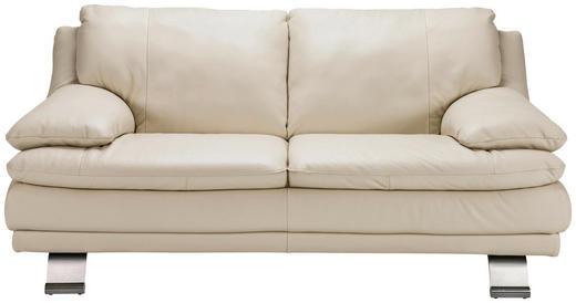 SOFFA - röd/alufärgad, Design, metall/läder (179/87/94cm) - Celina Home