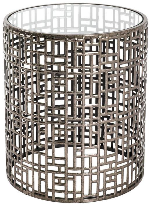 BEISTELLTISCH in Glas, Metall - Bronzefarben, LIFESTYLE, Glas/Metall (38/45cm)