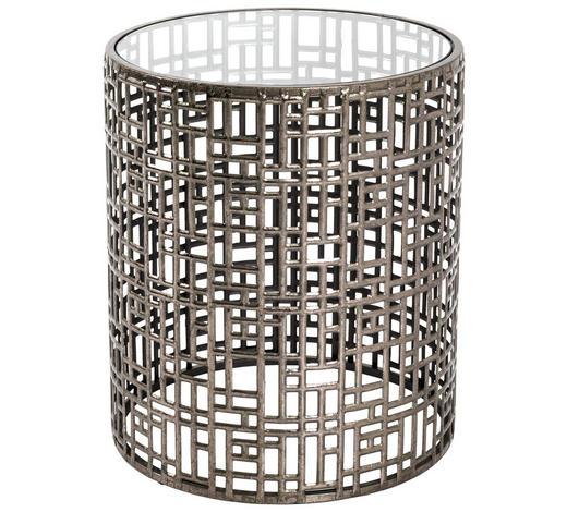 BEISTELLTISCH in Metall, Glas  38/45 cm - Bronzefarben, LIFESTYLE, Glas/Metall (38/45cm)