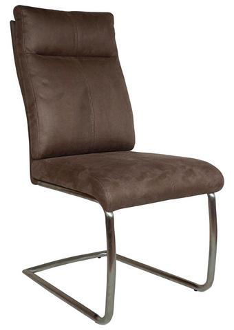 HOUPACÍ ŽIDLE, hnědá, barvy nerez oceli - hnědá/barvy nerez oceli, Design, kov/textil (47/104/64cm) - Carryhome