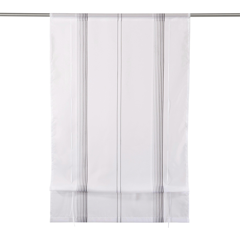 RAFFROLLO  transparent   80/130 cm - Schwarz/Weiß, Basics, Textil (80/130cm) - NOVEL