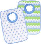 HAKLAPP - vit/grön, Basics, textil (23,5/37cm) - My Baby Lou
