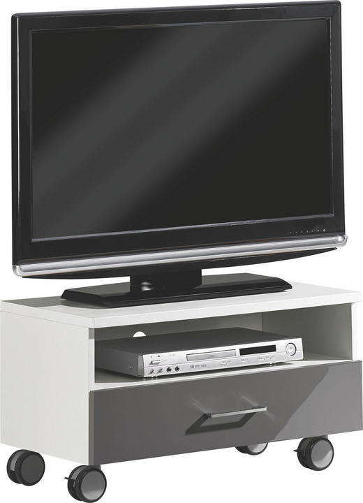 TV-ELEMENT Grau, Weiß - Weiß/Grau, Design (72,7/40,3/39,5cm) - Welnova