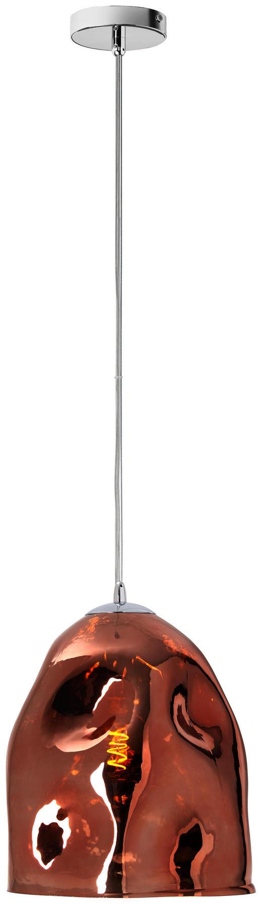 HÄNGELEUCHTE - Kupferfarben, Design, Glas (30/150/cm) - Dieter Knoll