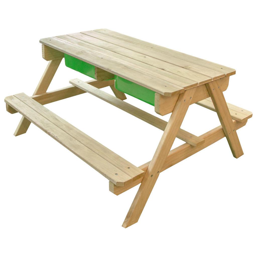 Sand- und Wassertisch aus Holz in Natur