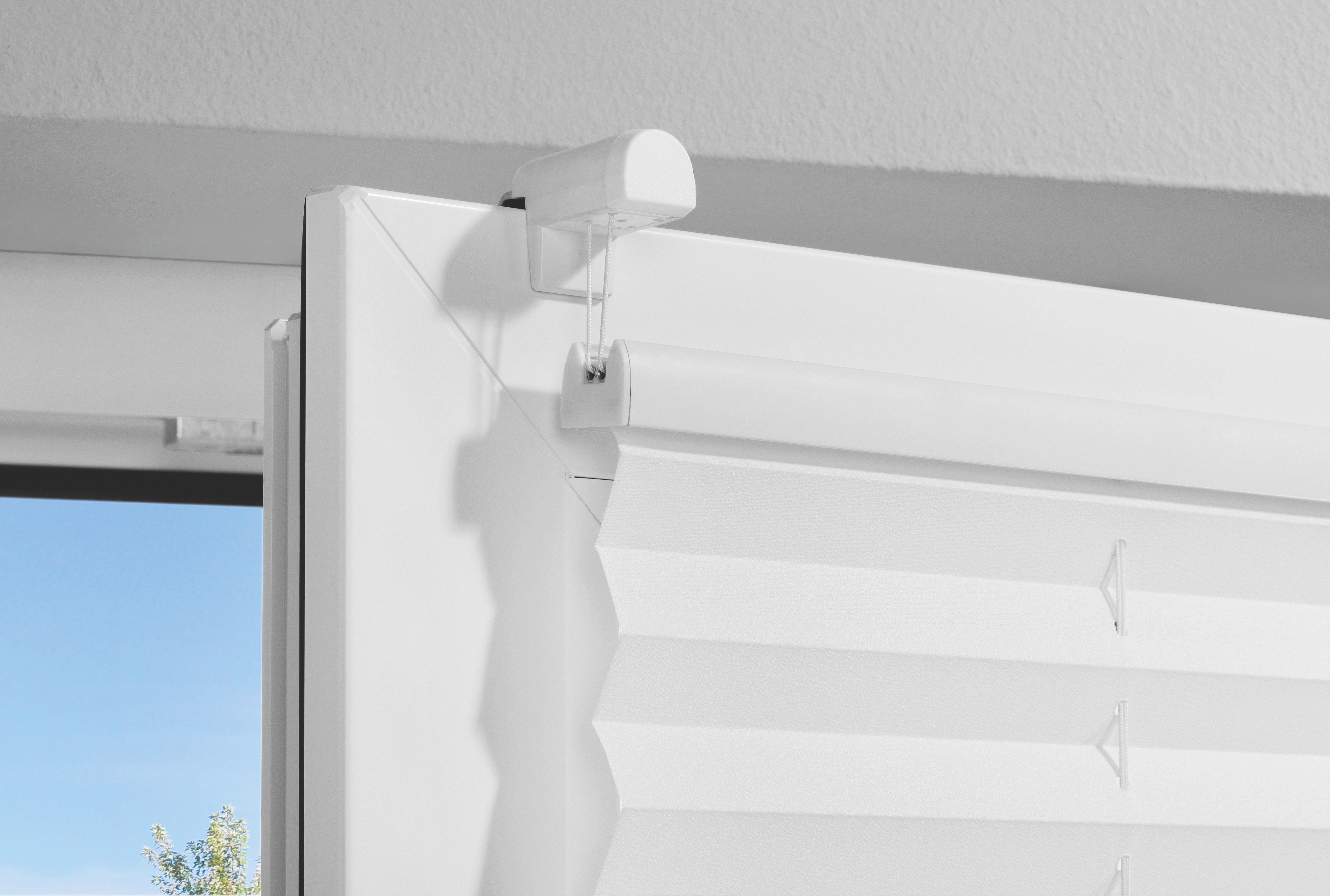 PLISSEE  halbtransparent   50/130 cm - Weiß, Basics, Textil (50/130cm) - HOMEWARE