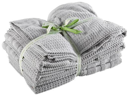 FROTTIERSET 10-teilig - Silberfarben, Basics, Textil - Esposa