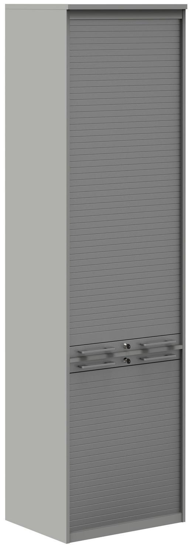 AKTENSCHRANK - Hellgrau/Alufarben, Design, Holzwerkstoff/Kunststoff (60cm)