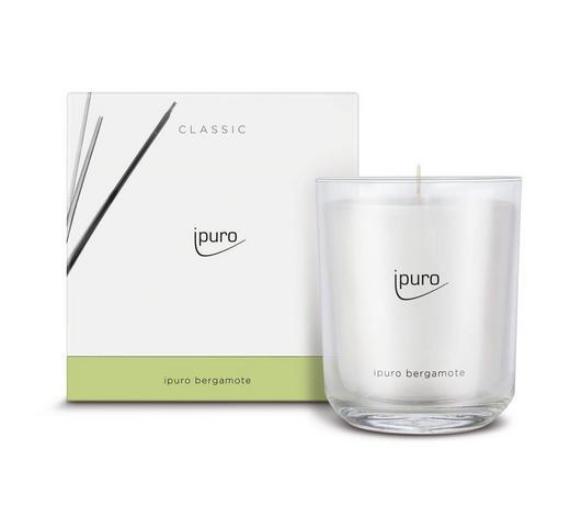 DUFTKERZE BERGAMOTE - Transparent/Weiß, Basics, Glas (11,5/11,5/12cm) - Ipuro