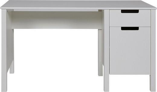 SCHREIBTISCH Kiefer massiv Weiß - Weiß, LIFESTYLE, Holz (135/75/58cm) - Carryhome