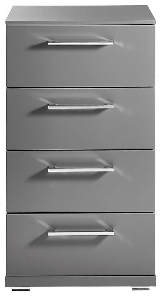 KOMMODE Graphitfarben - Chromfarben/Graphitfarben, Basics, Kunststoff (48/87/42cm) - Xora