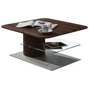 KONFERENČNÍ STOLEK - bílá/barvy dubu, Design, dřevěný materiál/sklo (85/43/85cm) - Ambiente by Hülsta