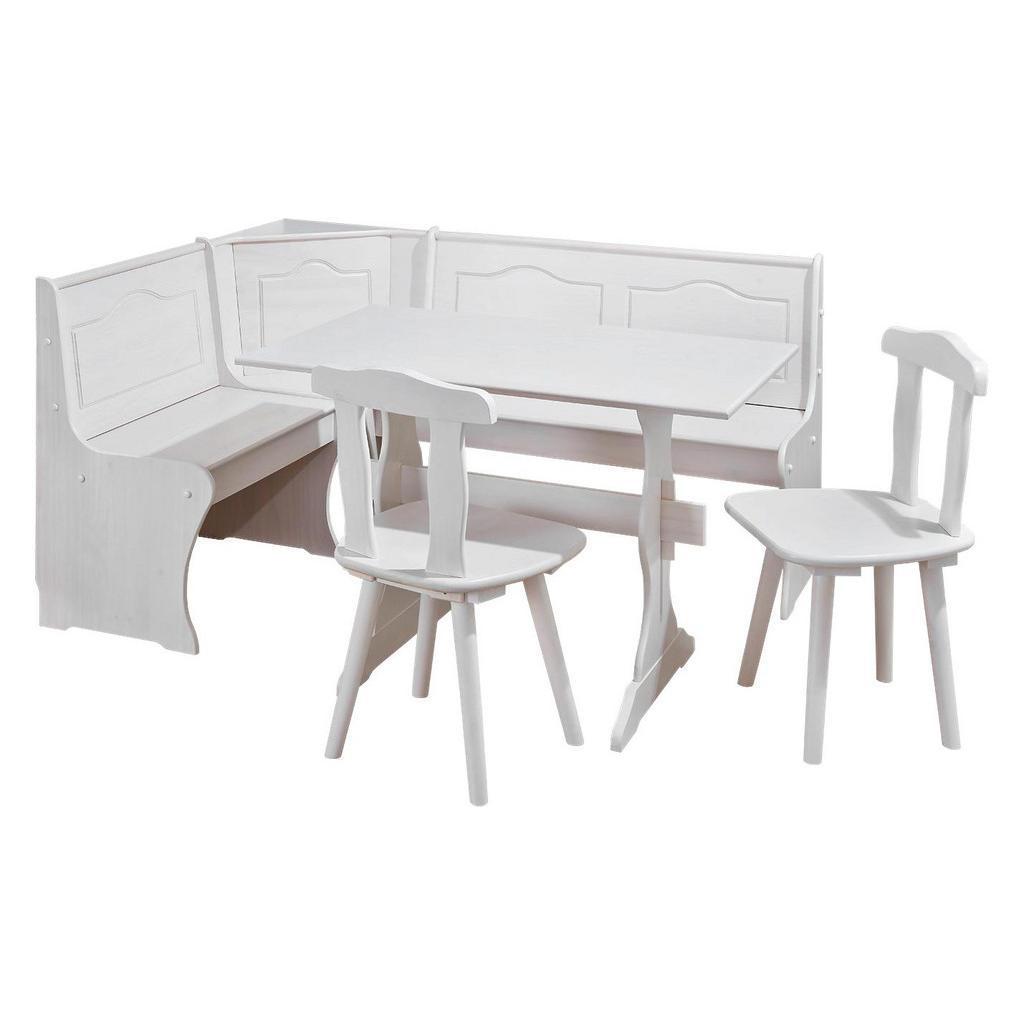 Carryhome ECKBANKGRUPPE Kiefer massiv Weiß | Küche und Esszimmer > Essgruppen > Eckbankgruppen | Weiß | Holz | Carryhome
