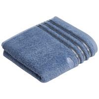 DUSCHTUCH 67/140 cm - Blau, Design, Textil (67/140cm) - Vossen