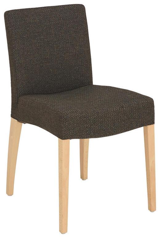 STUHL Flachgewebe Buche massiv Braun - Braun, Design, Holz/Textil (49/82/60cm)