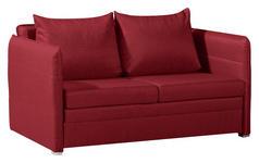SCHLAFSOFA in Textil Rot  - Chromfarben/Rot, KONVENTIONELL, Textil/Metall (213/88/91cm) - Novel