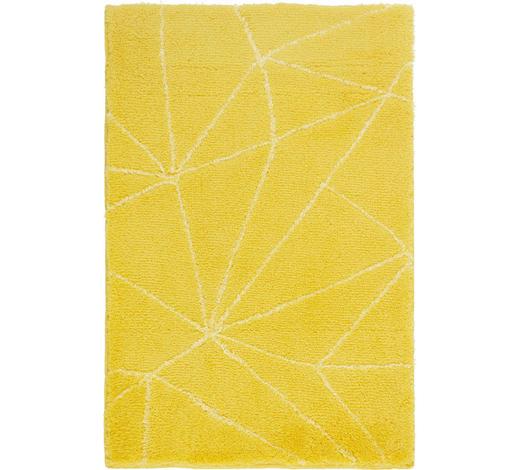 BADTEPPICH in Gelb 70/120 cm - Gelb, Design, Kunststoff/Textil (70/120cm) - Kleine Wolke