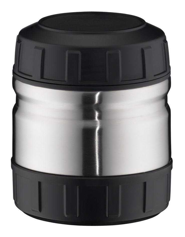 ISOLIERSPEISEGEFÄß 0,5 L - Silberfarben/Schwarz, Basics, Metall (13cm) - ALFI