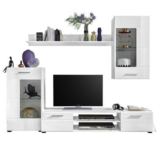 REGAL bijela   - bijela/boje srebra, Design, staklo/drvni materijal (230/190/40cm) - Ti`me