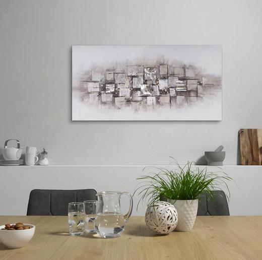 Abstraktes ÖLGEMÄLDE - Multicolor, Design, Holz/Textil (70/140cm) - Monee