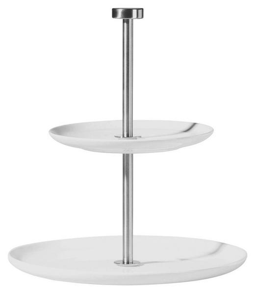 ETAGERE - Silberfarben/Weiß, Basics, Keramik/Metall (23.5cm) - ASA