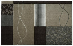 Webteppich Tyrion 160x230 cm - Beige/Schwarz, KONVENTIONELL, Textil (160/230cm) - James Wood