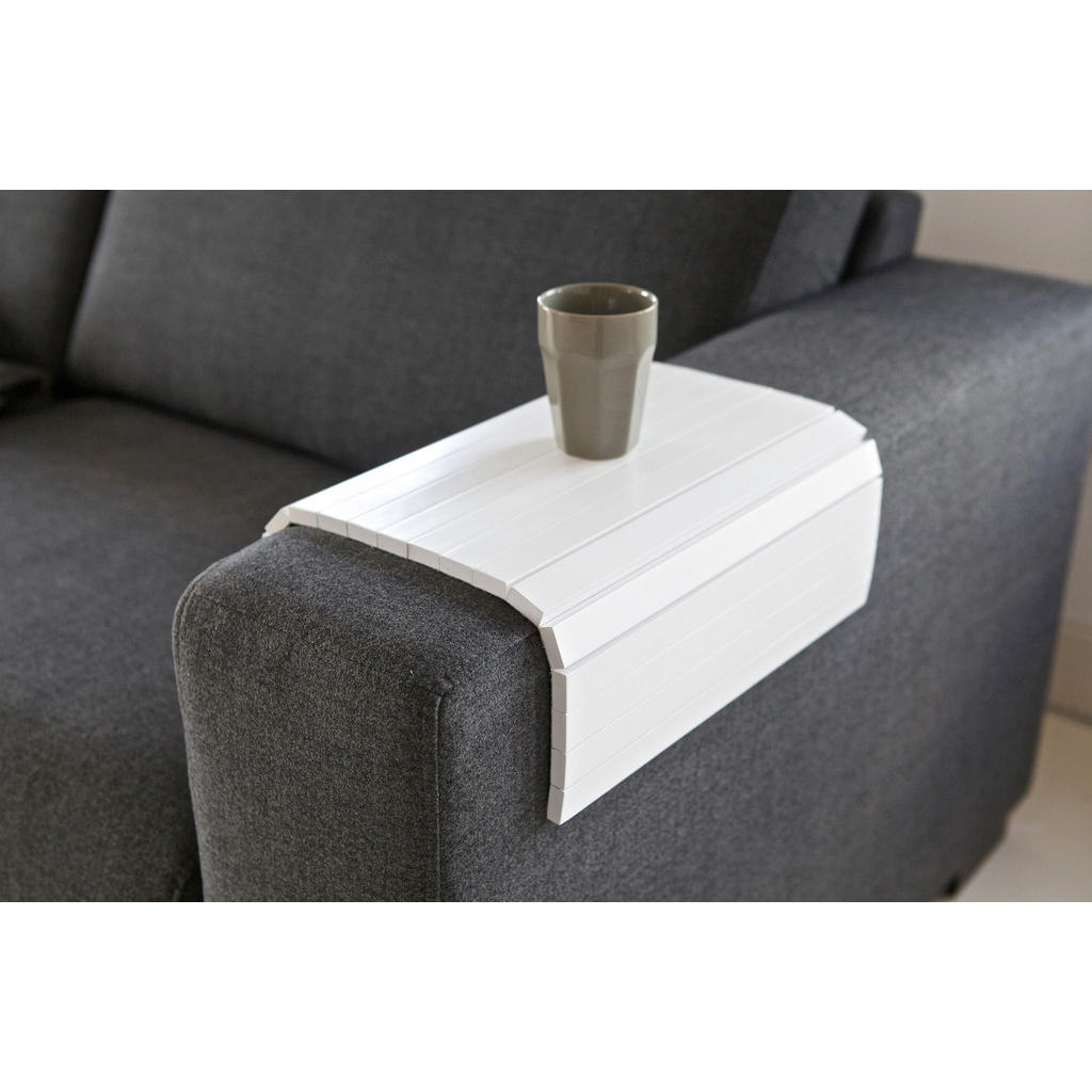 Carryhome SOFATABLETT Birke massiv 45/1/36 cm Weiß