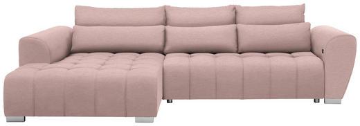WOHNLANDSCHAFT in Textil Rosa - Silberfarben/Rosa, MODERN, Kunststoff/Textil (218/304/cm) - Carryhome