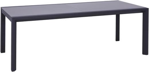 GARTENTISCH - Anthrazit, Design, Glas/Metall (220(340)/106/76cm) - Amatio