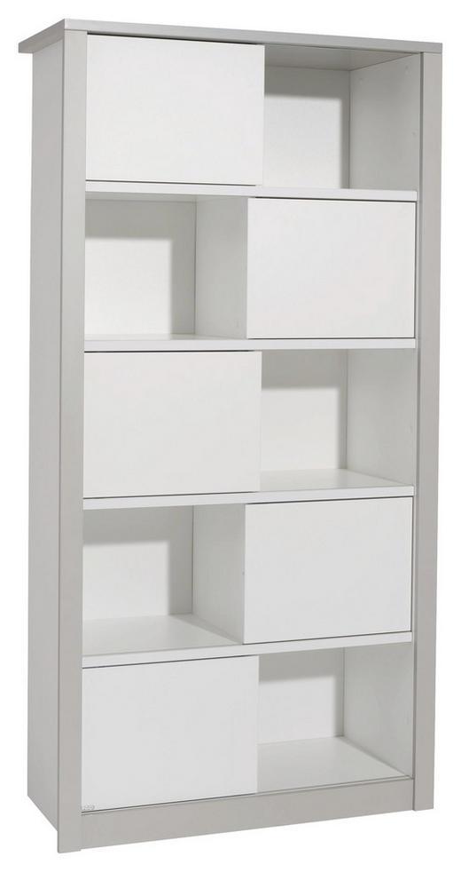 REGAL Grau, Weiß - Weiß/Grau, Design, Holzwerkstoff (93,7/183,5/42,9cm) - Paidi