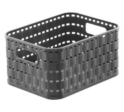 KORB - Dunkelgrau, KONVENTIONELL, Kunststoff (18,3/13,7/9,8cm) - Rotho
