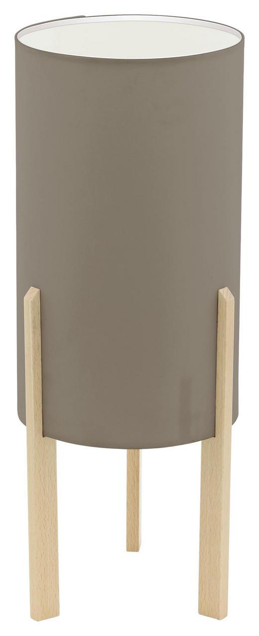TISCHLEUCHTE - Taupe/Ahornfarben, Design, Holz/Textil (16/40cm)