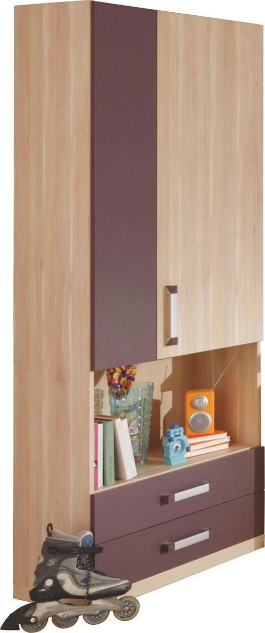 SCHRANK 2-türig Apfelbaumfarben, Aubergine - Chromfarben/Apfelbaumfarben, Design, Holzwerkstoff (75/200/37,5cm) - Venda