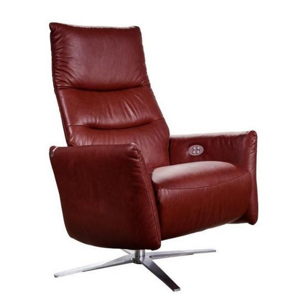 CHILLIANO RELAXSESSEL Echtleder Relaxfunktion, Rot