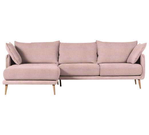 WOHNLANDSCHAFT in Textil Rosa - Naturfarben/Rosa, Design, Holz/Textil (160/270cm) - Carryhome