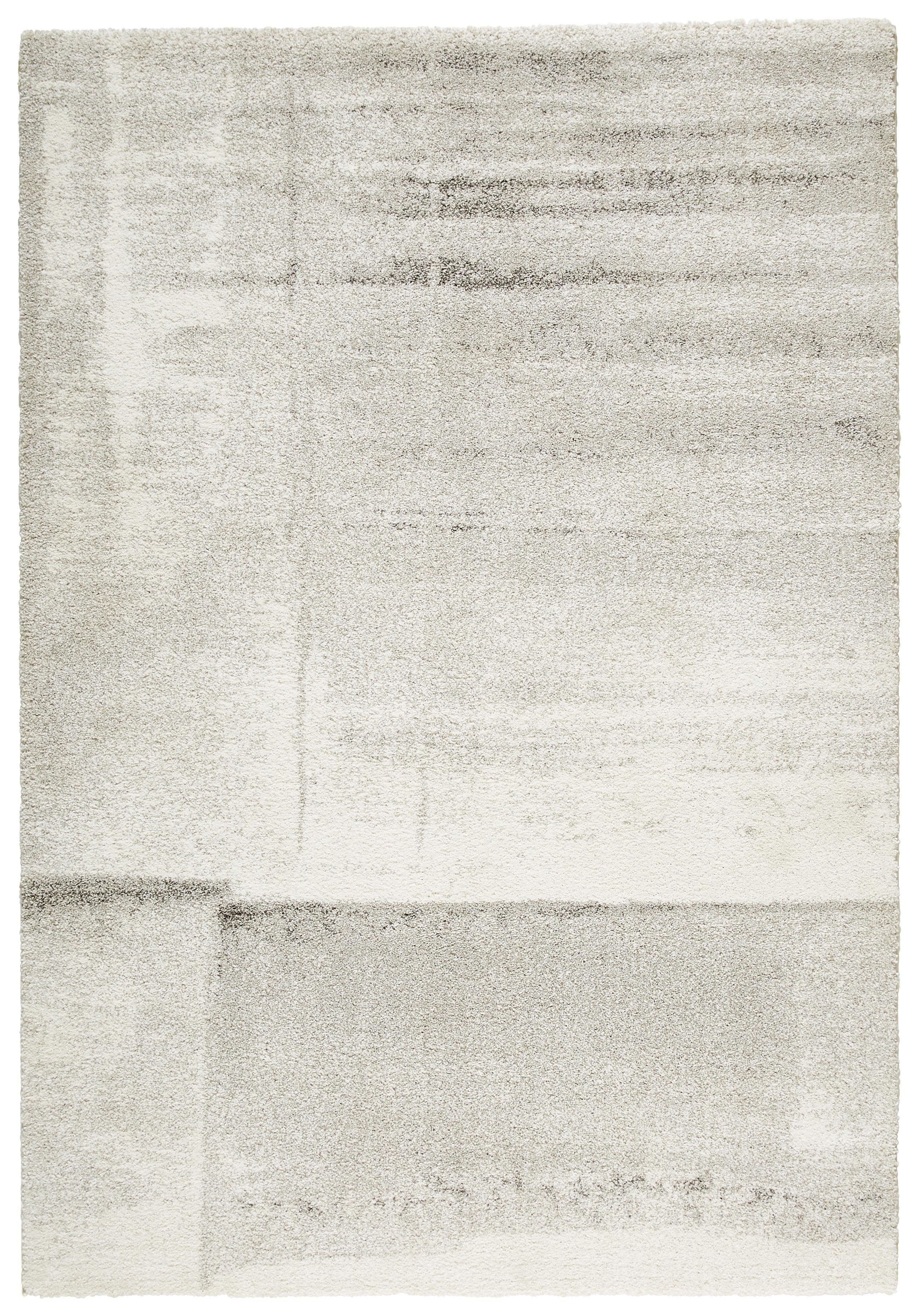 WEBTEPPICH  Creme, Silberfarben  135/190 cm - Silberfarben/Creme, Basics, Textil (135/190cm) - NOVEL