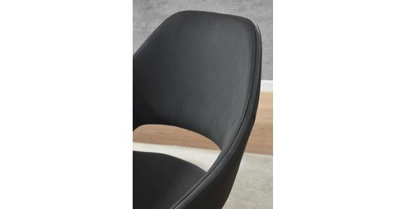 ARMLEHNSTUHL in Anthrazit, Grau, Edelstahlfarben  - Edelstahlfarben/Anthrazit, Design, Textil/Metall (63/91/63cm) - Voleo