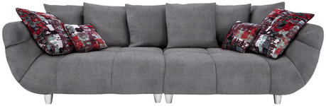 BIGSOFA in Textil Grau, Multicolor - Chromfarben/Multicolor, Design, Kunststoff/Textil (300/87/133cm) - Hom`in