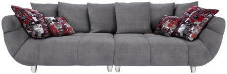 BIGSOFA Mikrofaser Grau, Multicolor - Chromfarben/Multicolor, Design, Kunststoff/Textil (300/87/133cm) - Hom`in