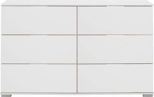 KOMMODE - Alufarben/Weiß, Design, Holzwerkstoff/Kunststoff (130  cm) - Carryhome