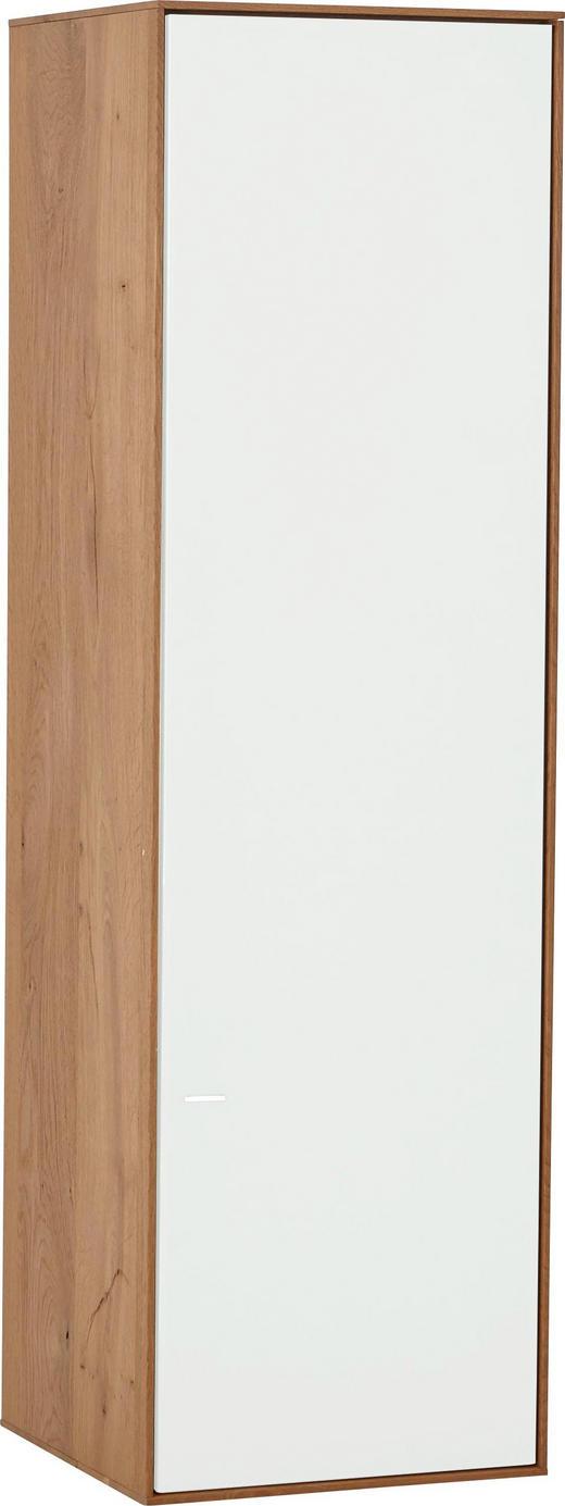 HÄNGEELEMENT Kerneiche vollmassiv Eichefarben, Weiß - Eichefarben/Weiß, Design, Glas/Holz (40,5/136,5/39cm) - Valnatura