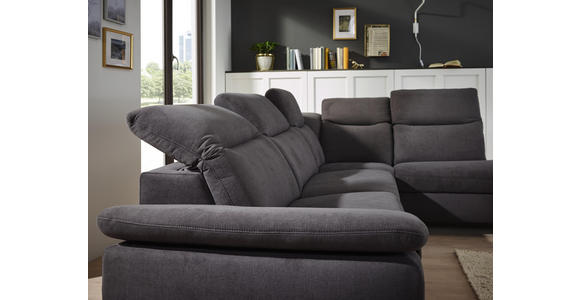 WOHNLANDSCHAFT in Textil Blau  - Chromfarben/Blau, Design, Textil/Metall (305/231cm) - Dieter Knoll