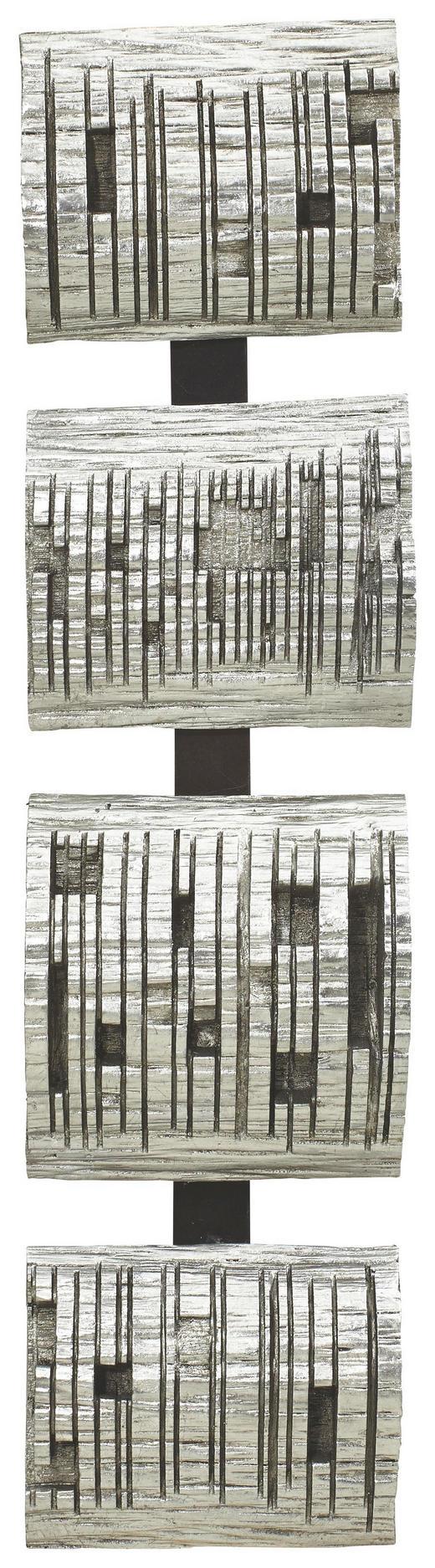 Abstraktes BILD - Silberfarben, Design, Kunststoff (20/80/8cm) - Monee