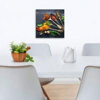 Gewürze GLASBILD - Multicolor, KONVENTIONELL, Glas (30/30/2cm) - Eurographics