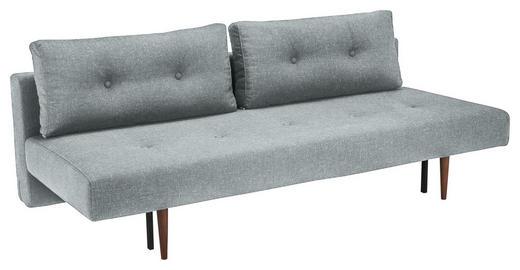 SCHLAFSOFA Flachgewebe Hellgrau - Dunkelbraun/Hellgrau, Design, Holz/Textil (200/84/93cm) - Innovation
