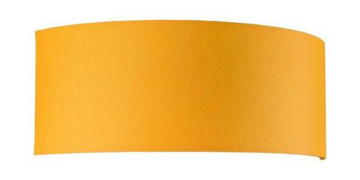 LEUCHTENSCHIRM  Gelb, Weiß  Kunststoff, Textil - Gelb/Weiß, Basics, Kunststoff/Textil (13/34/12cm)