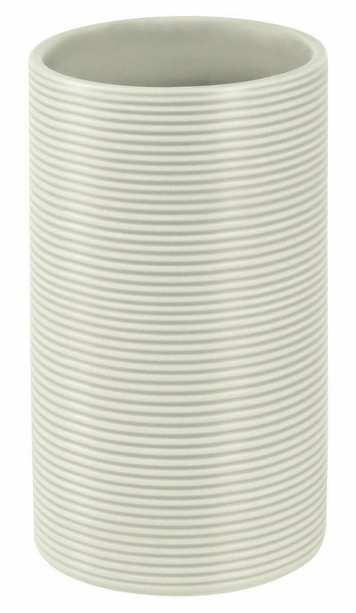 ZAHNPUTZBECHER Stein - Grau, KONVENTIONELL, Stein (6/10,5/6cm) - Spirella