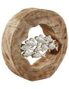 SKULPTUR - Silberfarben/Naturfarben, Trend, Holz/Metall (6,5/29,5cm)
