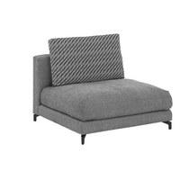 SOFAELEMENT in Textil Grau - Schwarz/Weiß, Design, Textil (105/72cm) - Rolf Benz